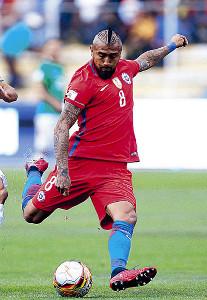 バルセロナの主力として活躍するチリ代表・ビダル(ロイター)