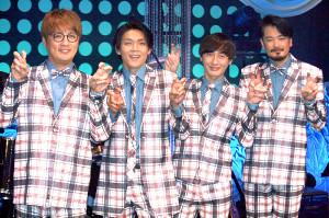 純烈の(左から)酒井一圭、白川裕二郎、後上翔太、小田井涼平
