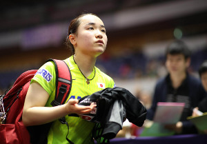 女子シングルス1回戦で敗れた伊藤美誠