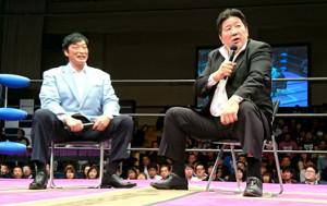 小橋建太(左)と前田日明氏