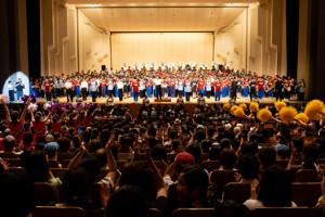 「ブラバン!甲子園ライブ」では約500人の出演者に/よって熱演が繰り広げられた