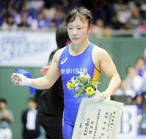 16日の全日本選抜選手権決勝、須崎優衣に敗れた登坂絵莉
