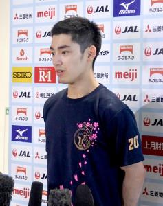 22日開幕の全日本種目別選手権に向け、意気込む白井健三