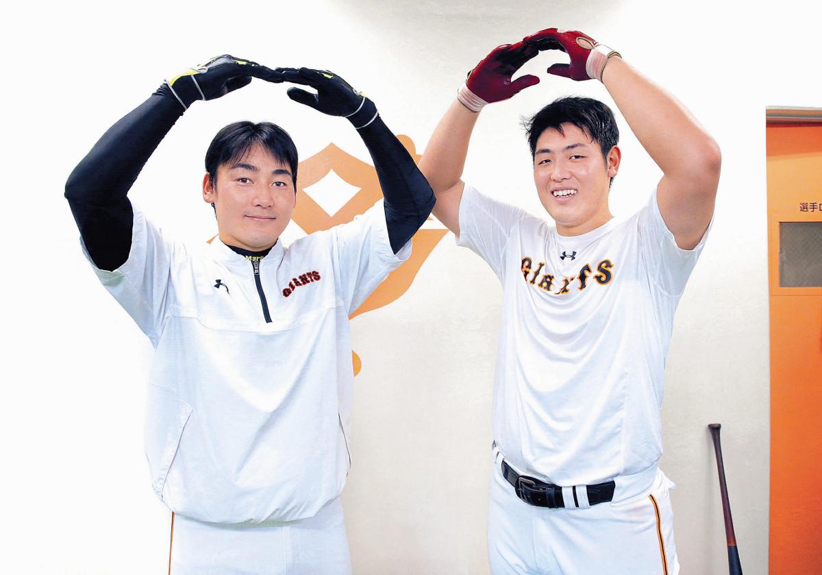 【巨人】丸&岡本、お互いの印象から意外な素顔までぶっちゃけた…スペシャル対談・前編
