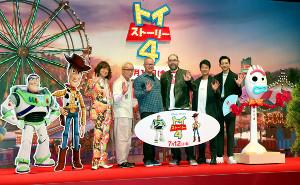 (左から)ダイヤモンド☆ユカイ、所ジョージ、マーク・ニールセン氏、ジョシュ・クーリー監督、唐沢寿明、竜星涼