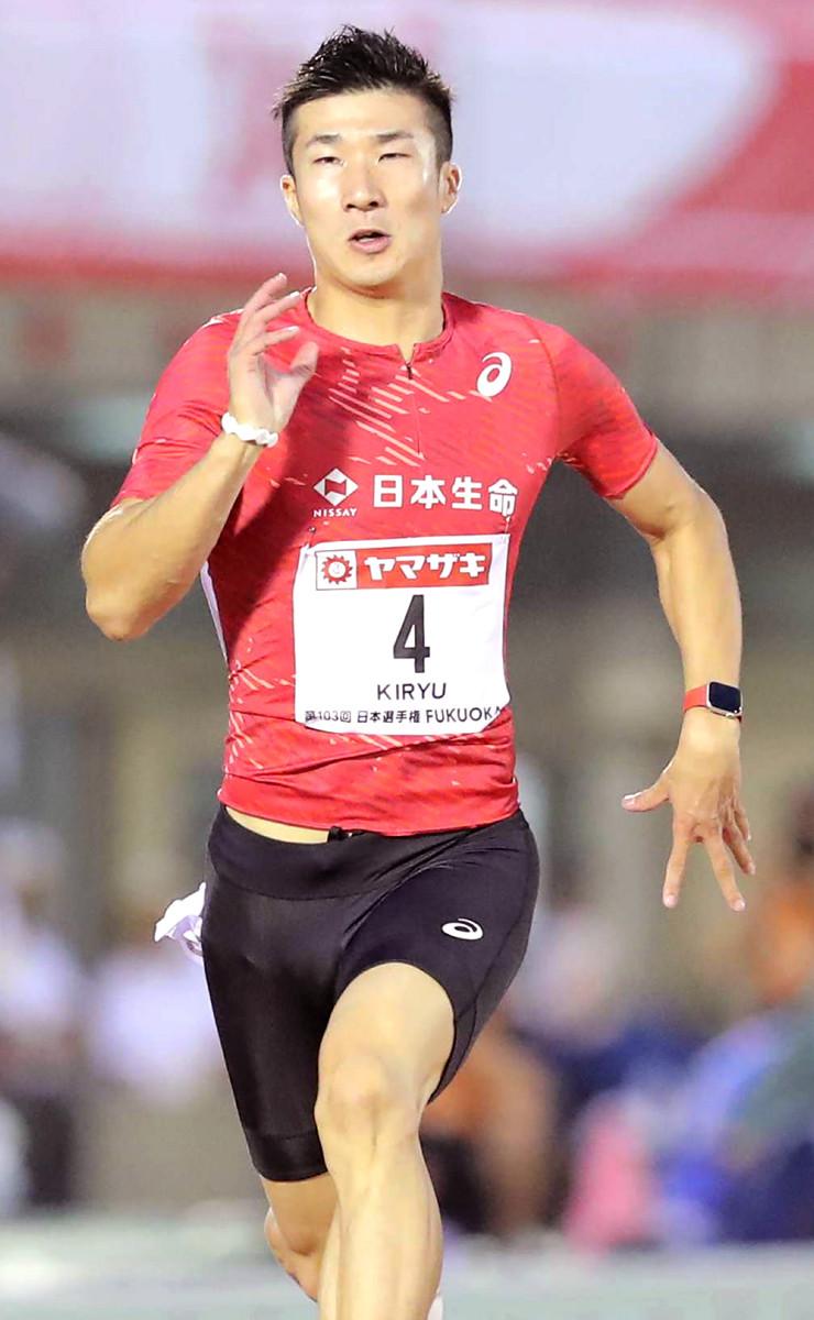 桐生祥秀、男子100メートル準決勝1組2位で決勝進出