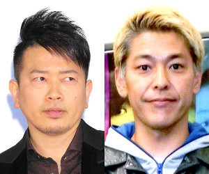 闇営業問題で吉本興業から謹慎処分を受けた宮迫博之(左)と田村亮