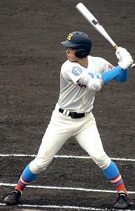 初戦で4安打と活躍した花咲徳栄・韮沢