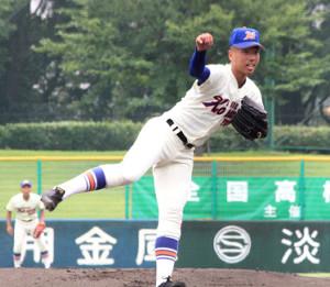 7回1失点で完投した神戸国際大付の松本