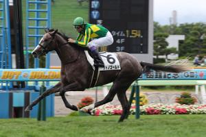 ゴールドシップ産駒のサトノゴールド(武豊騎手)が1番人気に応えデビューウィン(カメラ・高橋 由二)