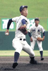 16奪三振の快投を見せた丹生・玉村昇悟