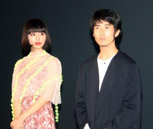 東京・東池袋のグランドシネマサンシャインの開業を記念し、主演する短編映画「TRANSPHERE」(関根光才監督)の上映会に出席した佐藤緋美(ひみ)、る鹿