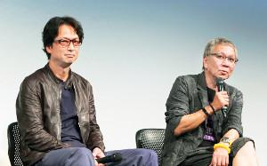 4年前の初主演映画について語る椎名桔平(左)とメガホンを執った三池崇監督