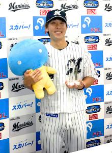 6月度「スカパー! サヨナラ賞」を受賞したロッテ・鈴木