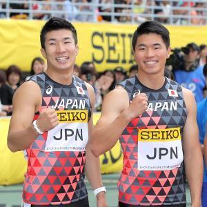 桐生祥秀(左)と小池祐貴