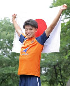 五輪メンバー入りへゴール量産を誓った法大・上田綺世(カメラ・相川 和寛)