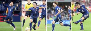 東京五輪OA枠選出が有力視される(左から)昌子源、柴崎岳、大迫勇也、中島翔哉