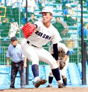 静岡商・高田琢登は10三振を奪ったが6失点で7回途中で降板した