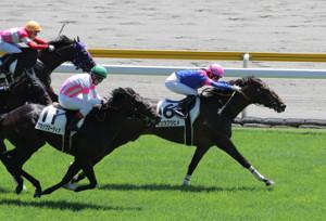 優勝した藤田菜七子騎手鞍上のリュウグウヒメ