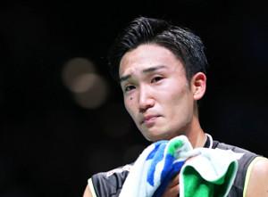男子シングルスで優勝し男泣きする桃田賢斗