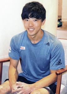 スポーツクライミングの五輪代表を目指す藤井