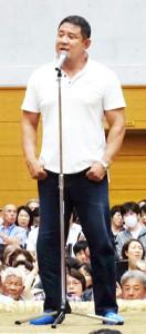 大相撲夏巡業東金場所を訪れた新日本プロレス・永田裕志