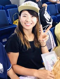 6月に東京ドームでソフトボールを観戦した渋野