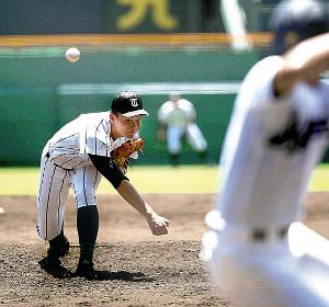 1失点完投勝利の津田学園・前