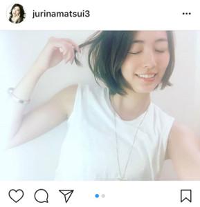 インスタグラムより@jurinamatsui3