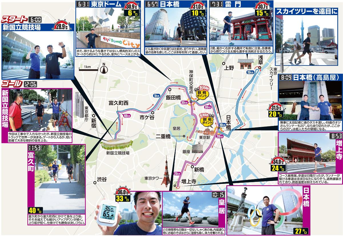 東京五輪マラソンコースを走った2記者