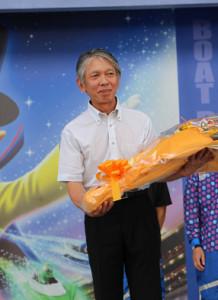 群馬支部優秀選手表彰式に出席した元選手の久田正晴さん