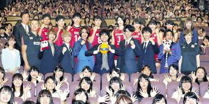バレーボールW杯開幕1か月前イベントに登場したジャニーズWESTら(カメラ・小泉 洋樹)