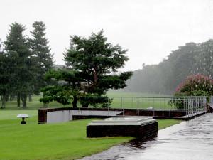 雷雲接近で3度の中断があった日本ジュニア