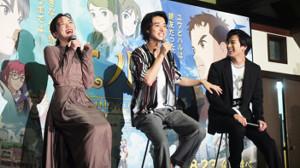 笑顔でトークする(左から)永野芽郁、山崎賢人、新田真剣佑