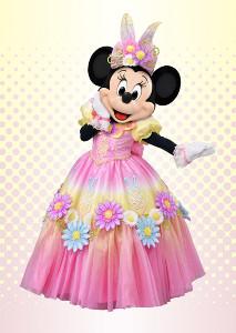 「ヒッピティ・ホッピティ・スプリングタイム」のコスチュームを着たミニーマウス(C)Disney