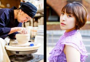 青木良太氏(左)と結婚するRiRiKA