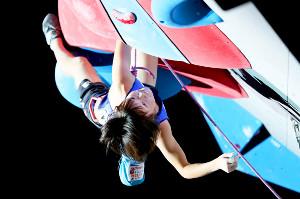 女子リード決勝で銅メダルを獲得した15歳の森秋彩(カメラ・矢口 亨)