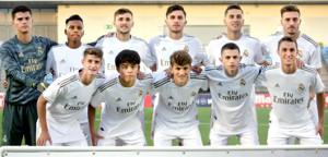カスティージャの親善試合に出場した久保(下段左から2番目)(写真は7日の試合のもの)