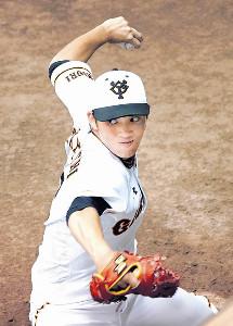 東京ドームで行われる阪神との3連戦に向け、熱の入った調整を行う高橋(カメラ・越川 亘)