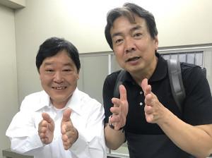 上島竜兵(左)と平野監督