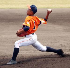 5回から登板した大阪北・廣瀬が試合を締めた