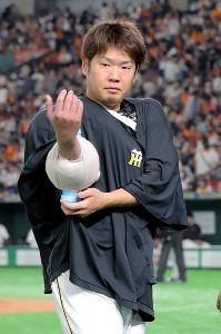 6回1失点ながら8敗目を喫した阪神・西