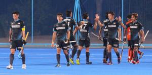 マレーシアを下したサムライジャパンの選手たち
