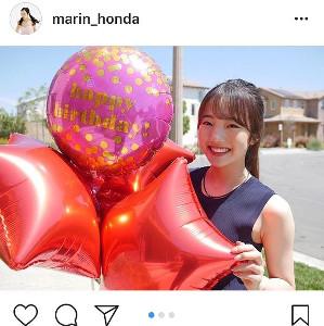 インスタグラムより@marin_honda