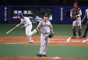 1回1死三塁、福田に先制の中前適時打を打たれたヤングマン(捕手・大城)