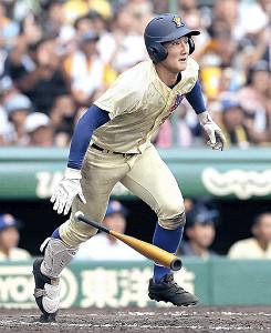 7回2死一、二塁で、同点適時打を放った知田