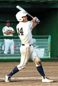 試合を決める一打を放った播磨・田村
