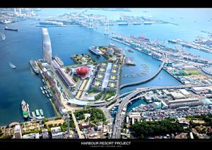 横浜港ハーバーリゾート協会による山下ふ頭整備後の予定図