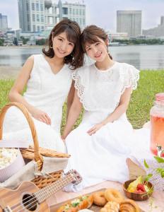 8月の三田友梨佳アナと竹内友佳アナ
