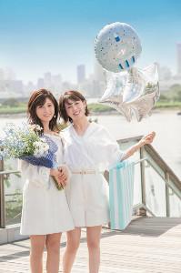 4月の宮司愛海アナと堤礼実アナ